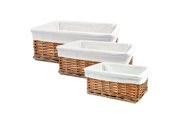Storage Basket With Lining Set