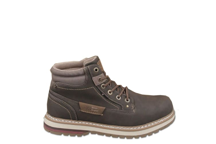 Route 21 Mens 6 Eyelet Ankle Boot (Dark Brown) (9 UK)