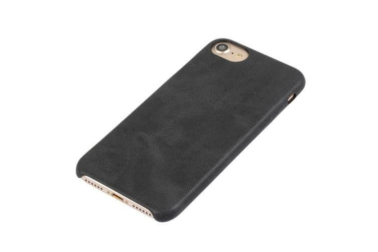 For iPhone 8 7 Case Stylish Ultra-slim Durable Protective Leather Cover Black