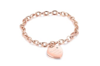 Forever You're My Lover Bracelet-Rose Gold/Clear