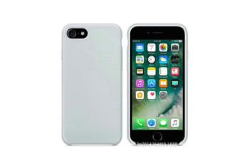 Silicone Gel Rubber Shockproof Protective Case Cover For Iphone Blue Gray I7/I8