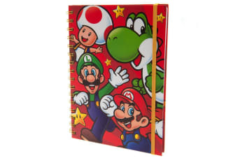 Super Mario Character Spiral Notebook (Red)