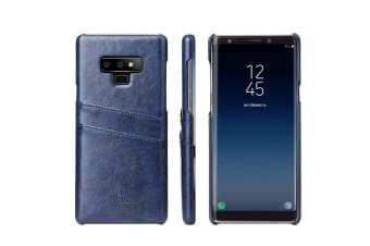 For Samsung Galaxy Note 9 Case Deluxe Wallet Leather Cover 2 Card Slots Blue