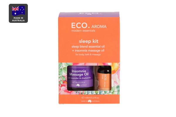 ECO. Body & Aroma Duo Kit with Insomnia Massage Oil & Sleep Essential Oil
