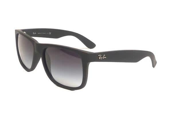 ea75aca248b Ray-Ban RB4165 JUSTIN - Black (Grey Gradient lens)   54--16--145 Unisex  Sunglasses - Kogan.com