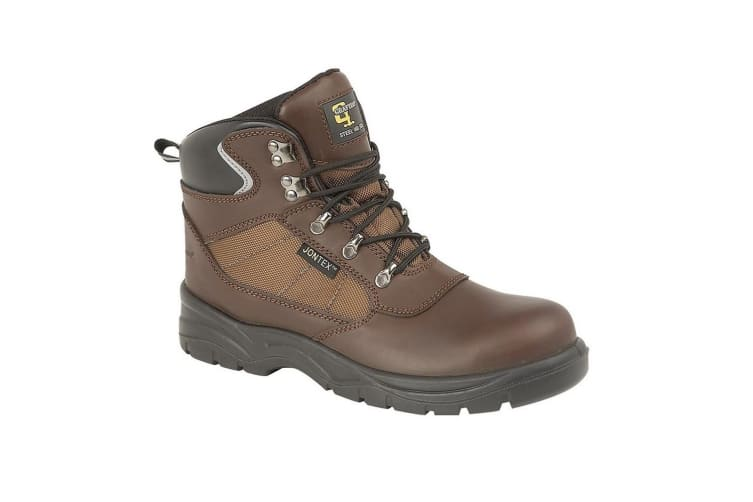 Grafters Mens Action Laced Leather Hiking Boot (Brown) (13 UK)