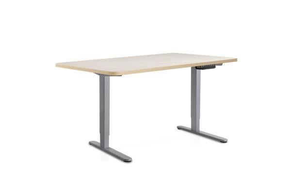 Image of 100cm Motorised Electrical Adjustable Frame Standing Desk (Wood/Grey)