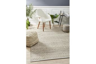 Ryder Natural & Grey Wool Textured Rug 320x230cm