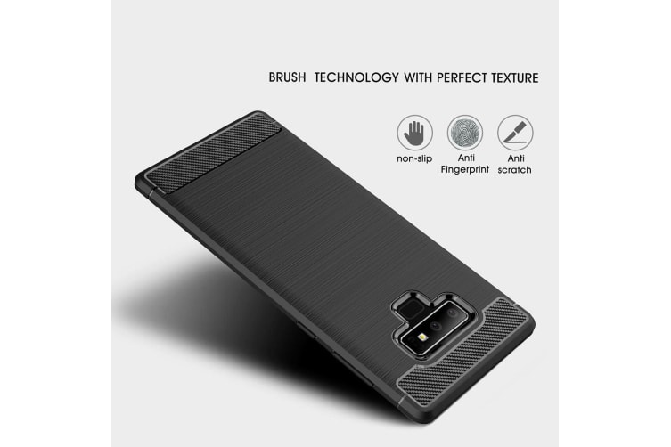 For Samsung Galaxy Note 9 Case Carbon Fiber Texture Armour Back Phone Cover Navy
