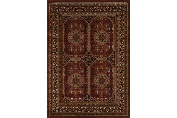 Traditional Afghan Design Rug Burgundy Red 230x160cm