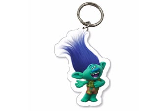 Trolls Childrens/Kids Official Branch Character Keyring (Green/Blue) (One Size)
