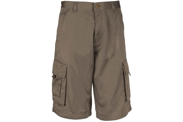 Kariban Mens Trekker Shorts (Light Olive) (L)