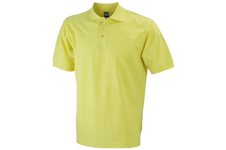James and Nicholson Mens Classic Polo (Yellow) (XL)
