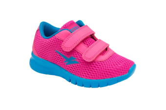 Gola Sport Childrens/Kids Beta 2 Touch Fastening Trainers (Pink/Process Blue)