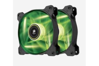 Corsair SP 120mm Fan with Green LED High Pressure. Twin Pack!