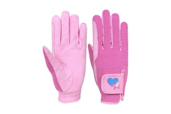 Little Rider Childrens/Kids Little Show Pony Riding Gloves (Prism Pink/Cameo Pink)