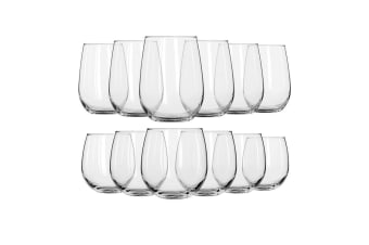 Royal Leerdam Suave Stemless Wine Glass Set of 12