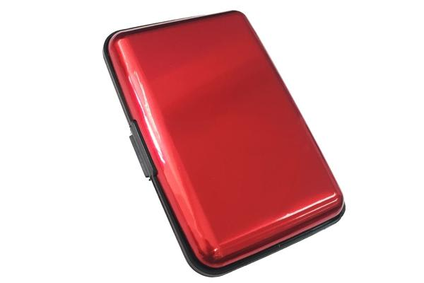 Security Card Wallet Red