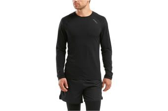 2XU Men's HEAT Long Sleeve Run Tee (Black)