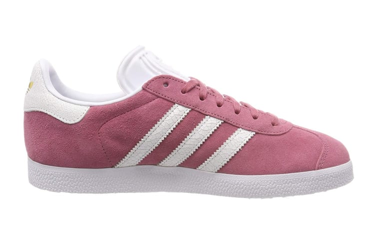 the best attitude first look cute cheap Adidas Originals Women's Gazelle Shoe (Maroon/White, Size 4.5 UK)