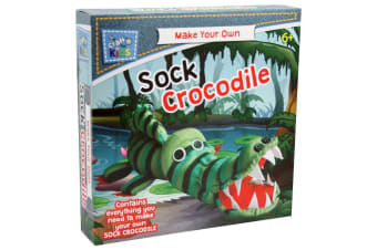 Craft for Kids Make Your Own Sock Crocodile