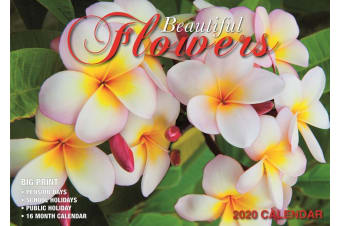 Beautiful Flowers - 2020 Rectangle Wall Calendar 16 Months by Bartel (B)