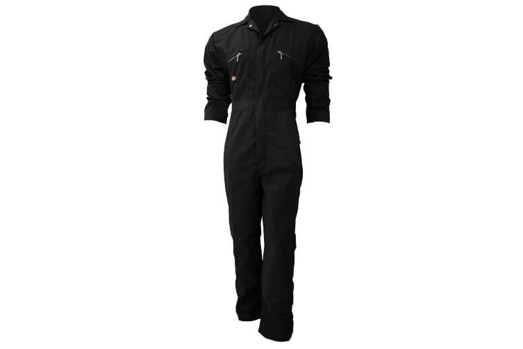 Dickies Redhawk Zip Front Coverall Tall / Mens Workwear (Pack of 2) (Black) (42W x Long)