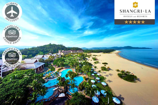 BORNEO: 7 Nights at the Shangri-La's Rasa Ria Resort & Spa, Kota Kinabalu Including Flights for Two (Departing Sydney/Perth)