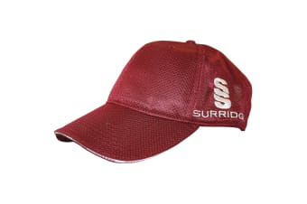 Surridge Mens Micromesh Sports Baseball Cap (Maroon)