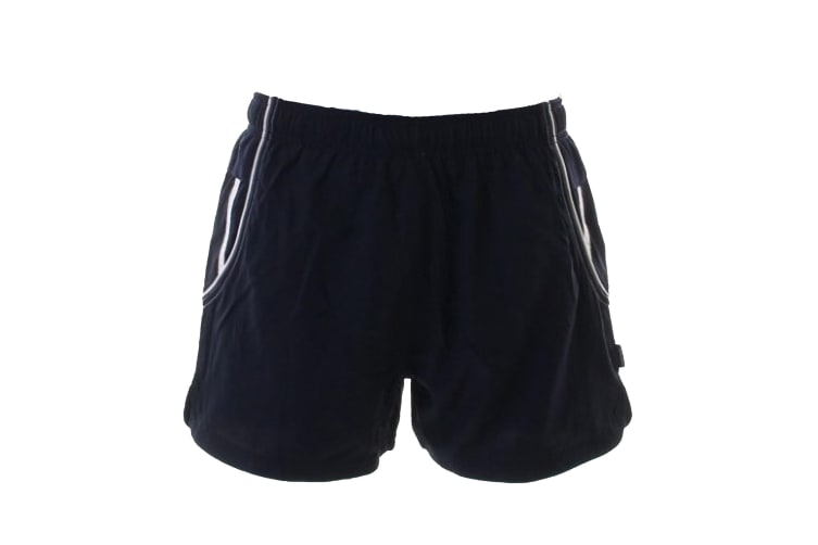 Gamegear® Womens/Ladies Cooltex® Active Training Shorts (Navy / White) (8)