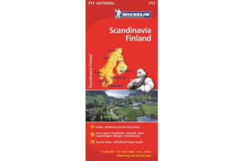 Scandinavia & Finland - Michelin National Map 711 - Map