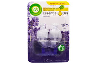 2pc Air Wick 21ml Essential/Scented Oils Refill f/ Electric Diffuser Lavender