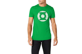 Green Lantern Unisex Adults Distressed Logo T-Shirt (Green)