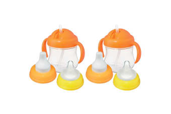 2x Pigeon MagMag Training Drinking Bottle Teat Spout Straw Sip Cup for Baby/Kid