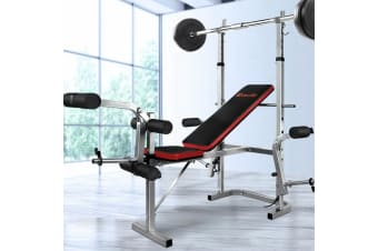 Everfit Multi-Station Weight Bench Press Weights Equipment Set Benches Home Gym