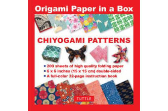 Origami Paper in a Box - Chiyogami Patterns - 200 Sheets of Tuttle Origami Paper