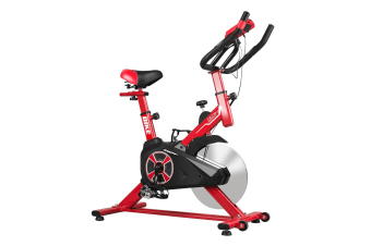 Genki Gym Spin Bike Exercise Cycle Cardio Training Red