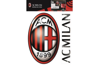 AC Milan Official Wall Stickers (Set of 2) (Red/Black)