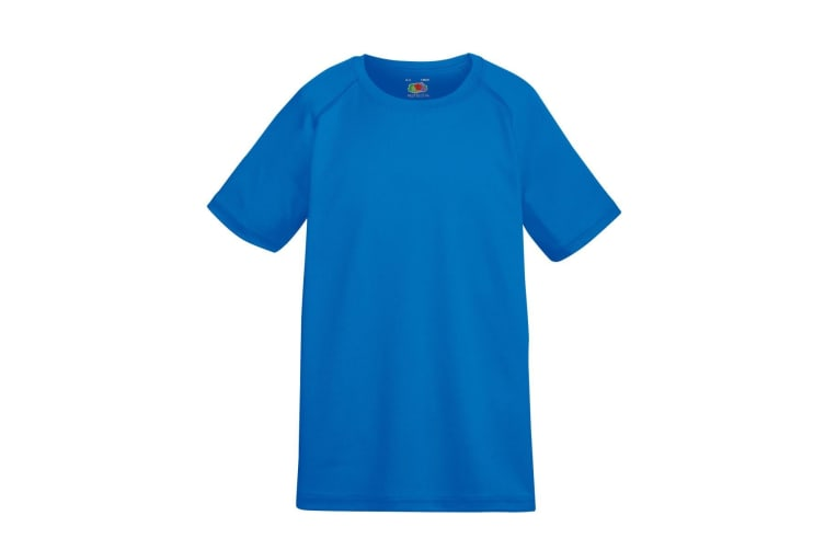 Fruit Of The Loom Childrens Unisex Performance Sportswear T-Shirt (Royal) (12-13 Years)