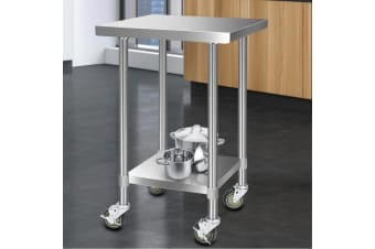 Stainless Steel Kitchen Benches Work Bench Food Prep Table Wheels