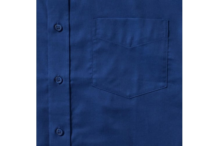 Russell Collection Mens Long Sleeve Easy Care Oxford Shirt (Bright Royal) (19.5inch)