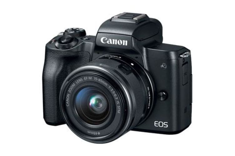 New Canon EOS M50 Kit (15-45mm) Digital Cameras Black (FREE DELIVERY + 1 YEAR AU WARRANTY)