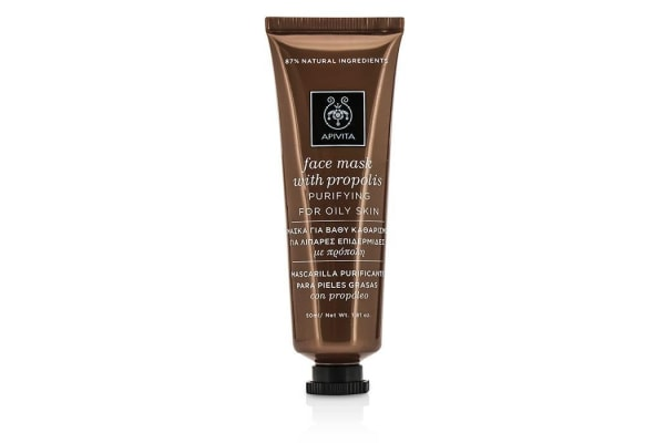 Apivita Face Mask with Propolis - Purifying (For Oily Skin) (50ml/1.81oz)