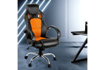 Artiss Gaming Office Chair Computer Chairs Leather Mesh Seating Racer Racing OR