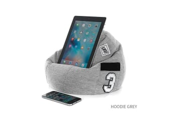 iCrib Tablet Bean Bag Pillow - Hoodie Grey