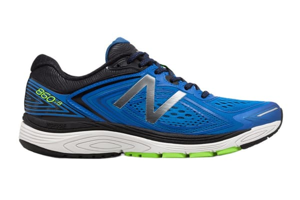 New Balance Men's 860v8 Running Shoe - 2E (Blue/Lime/Black, Size 7.5)