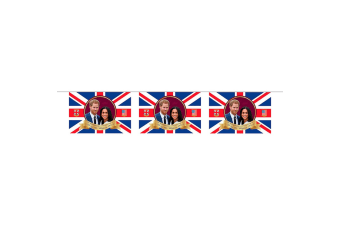 Royal Wedding 2018 Prince Harry And Meghan Bunting (8 Flags) (Red/White/Blue) (One Size)