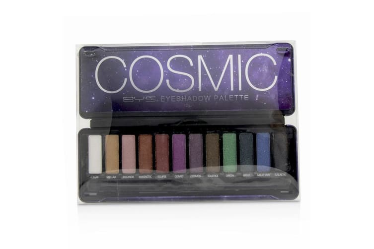 BYS Eyeshadow Palette (12x Eyeshadow, 2x Applicator) - Cosmic 12g