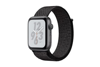 Apple Watch Nike+ Series 4 (Space Gray, 40mm, Black Nike Sport Loop, GPS Only)
