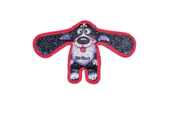 Fuzzu All Ears Barkus Dog Toy (Black/White/Red) (One Size)